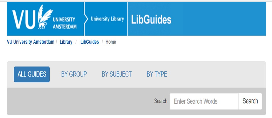 VU University Amsterdam Library Guides