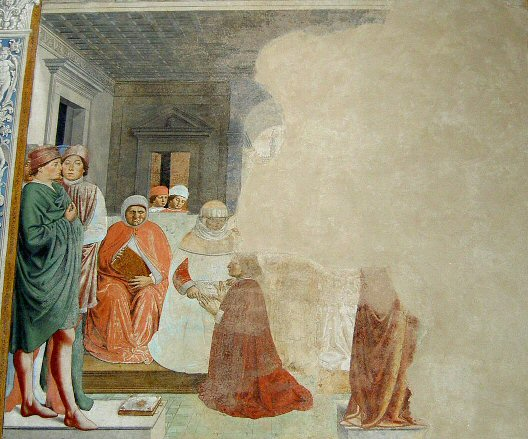 Gozzoli 02a Augustine is admitted to the University at Carthage / Augustinus begint zijn studie in Carthago